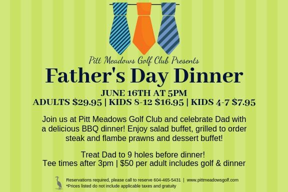 Join us for Father's Day - Sunday, June 16th