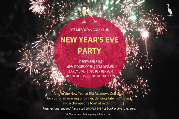 Ring in the New Year at Pitt Meadows Golf Club!