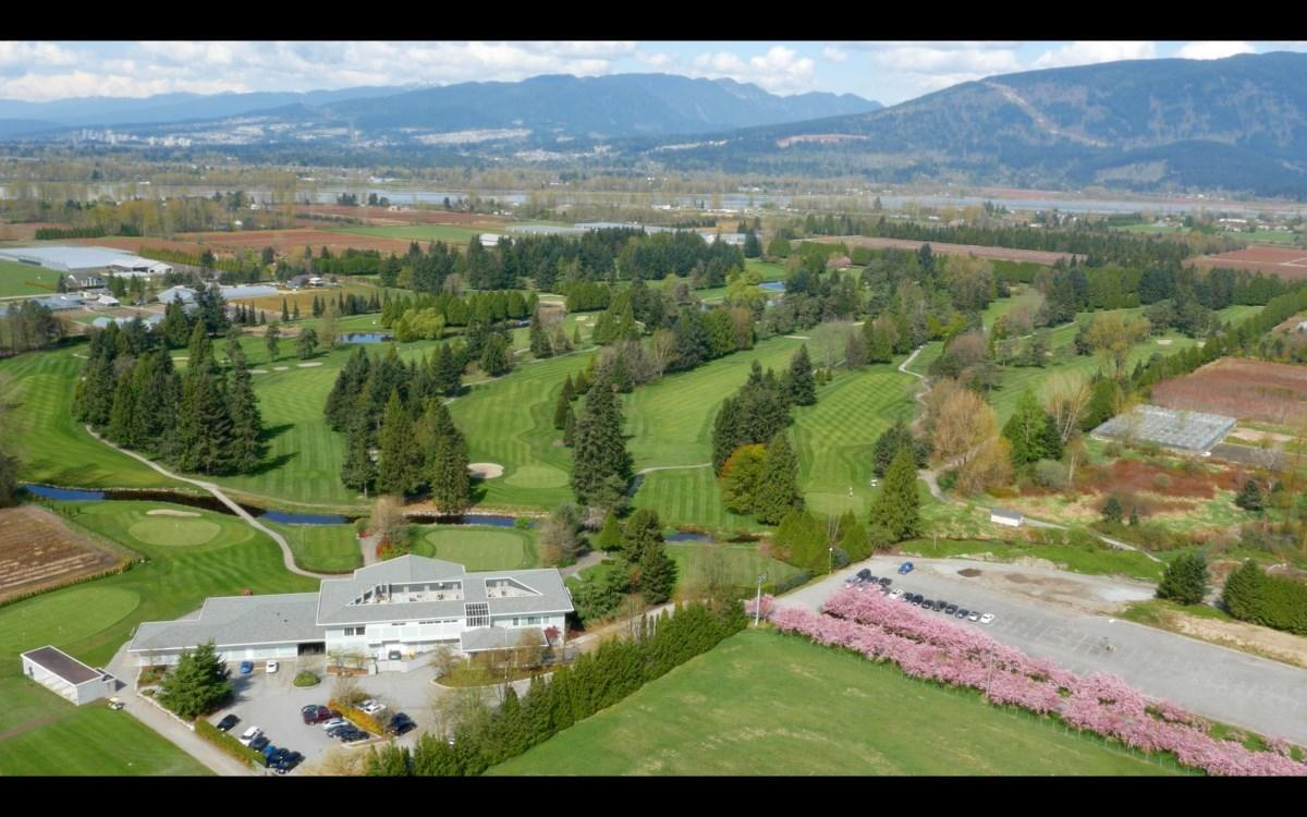 Pitt Meadows Golf Club Overhead Shot